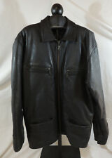 Leder Black Mens XL Leather Jacket by Golden Corporation