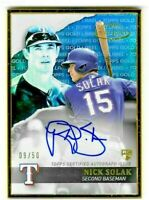 Nick Solak 2020 Topps Gold Label Framed AUTO BLUE Rookie RC /50 Rangers