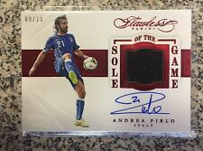 2015-16 Flawless Ruby Soccer Sole of The Game Andrea Pirlo Cleat Patch AUTO /15
