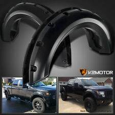 2009-2014 F150 Offroad 4PC Pocket Rivet Style Black Wheel Fender Flares Cover