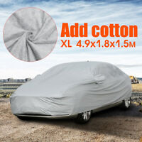 Universal Full Car Cover Cotton Breathable Waterproof UV Resistant 490x180x150cm