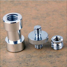 "1/4"" 3/8"" Tripod Screw Adapter to Umbrella Holder Light Stand Camera MounJ3W"