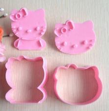 Coppia di Stampi Hello kitty  per biscotti, fimo,cernit ecc cake design