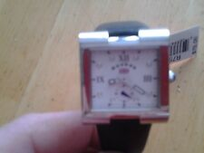 Vintage Reebok Wrist Watch R75051L New Watch New Battery Leather Band