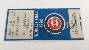 Andre Dawson Signed HR #397 Home Run 1992 9/16/92 Cubs Phillies Ticket Stub