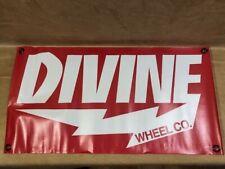 Divine Wheel Co. (Red) Vinyl Longboard / Skate Shop Poster