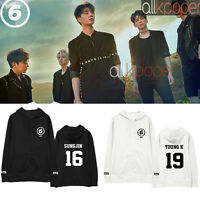 Kpop Day6 Cap Hoodie 1st Album SUNRISE Young K Dowoon Causal Pullover Jae