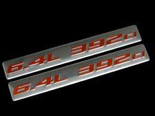 VMS 2 CHRYSLER DODGE 6.4L 392 CI HEMI ENGINE ALUMINUM EMBLEM RED SILVER