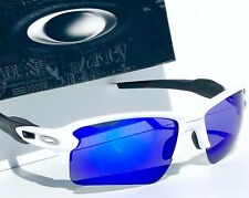 NEW* Oakley FLAK JACKET 2.0 WHITE w POLARIZED Galaxy BLUE Lens Sunglass 9188