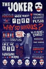 Dark Knight DC Comics Maxi Posterthe Joker con Citazioni in legno
