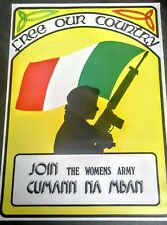 IRISH REPUBLICAN CUMANN NA MBAN POSTER MEMORABILIA LONG KESH SINN FEIN BELFAST