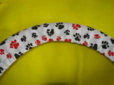 Red and Black Puppy Paws Steering Wheel Cover