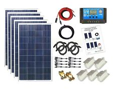 500w Mono Solar Panel Kit 24V PWM controller bracket battery charging cables K4