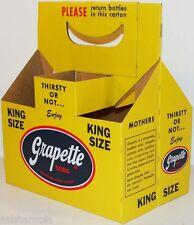 Vintage soda pop bottle carton GRAPETTE King Size unused new old stock n-mint+