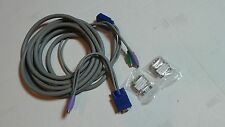 15ft KVM cable or PC extension VGA DVI + PS2 Mouse/Keyboard/Monitor all in one