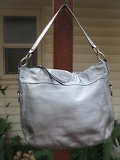 COACH Silver Large Leather Handbag F14706 ZOE HOBO