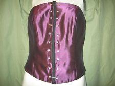 Renaissance costume bodice one M, one L purple tafetta front laced