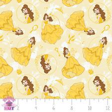 Disney Princess Belle Beauty & the Beast Yellow Fabric