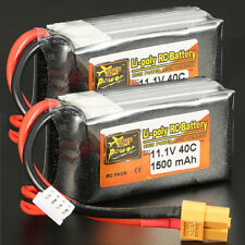 2x 3S 11.1V 1500mAh 40C Lipo Battery For RC Drone Helicopter Quadcopter Car Boat