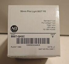 ALLEN BRADLEY 800T-QH2C LED PILOT NEW IN BOX CLEAR LENS
