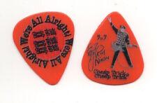 Rick Nielsen Cheap Trick Show Used Signature Logo Guitar Pick - Orange