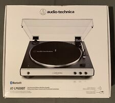 AUDIO-TECHNICA AT-LP60XBT-WH TURNTABLE WITH BUILT-IN BLUETOOTH -WHITE/BLACK NIB