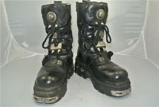 NEW ROCK REACTOR BOOTS 6 SPIKES 4 STRAPS ANATOMICAL SOLE ZIP SIZE 10 UK