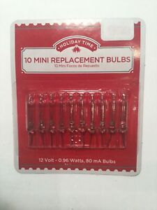 1 Pack of 10 Mini Replacement Bulbs ▲ Clear  ▲ 12V  12 Volts ▲  Holiday Time