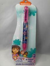 Nickelodeon Dora The Explorer Dora And Friends 6 Color Pen Brand New Seal