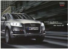 Audi Q7 Prospekt 4/08 2008 Autoprospekt brochure broschyr Broschüre Katalog Auto