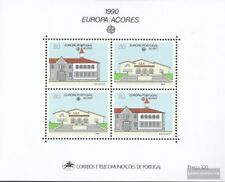 Azores (Portugal) Bloque 11 nuevo 1990 Postal instalaciones