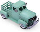 Giftchy Vintage Easter Truck Décor, Farmhouse Turquoise Truck Spring Decor