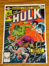 INCREDIBLE HULK #256 VOL1 MARVEL COMICS FEBRUARY 1981