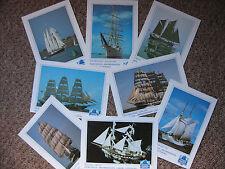 Cutty Sark Tall Ships Race/ Newcastle Maritime Festival 1986 - 8 Postcard set