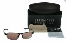 NEW POLARIZED SERENGETI STRATO Satin Black PHD Sedona Lens Sunglasses 7681