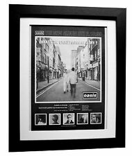 OASIS+WHAT'S STORY MORNING GLORY+POSTER AD+FRAMED+ORIGINAL 1995+FAST GLOBAL SHIP