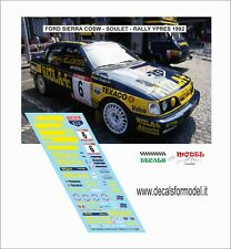DECALS 1/43 FORD SIERRA RITLA SOULET RALLY YPRES 1992