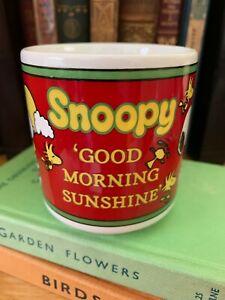Vintage Snoopy Mug Good Morning Sunshine with Woodstock Vintage Mug