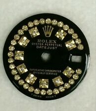 Rolex ladies datejust  glossy black custom string  diamond dial 2-T
