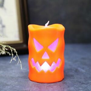 Candlestick Halloween Table Top Light LED Pumpkin Spider Ghost Party Happy Decor