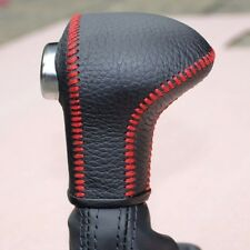 1 pc Leather Gear Shift Knob Cover AT For Audi Q7 Q5 A5 A4 A7 2009-2015