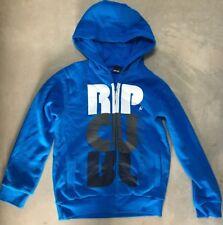 Boy's Ripcurl Sz 10 Hoodie Blue Hooded Sweatshirt