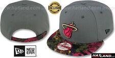 Heat  FLORAL-FUR STRAPBACK  Grey-Pink Hats by New Era 0c7c74e50d95