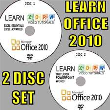 MASTER OFFICE 2010 SIMPLE VIDEO TRAINING EASY GUIDES BY EXPERTS 2 PC-DVD SET