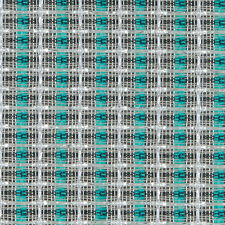 """36"""" Speaker Grill Cloth Fabric Silver Turquoise Stripe"""
