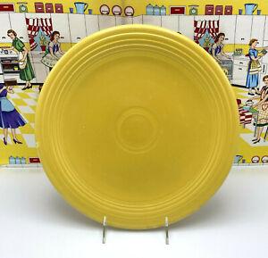"Vintage Fiesta Fiestaware 12"" Chop Plate Serving Platter Yellow"