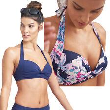 Joules Womens Bonnie Clasp Fastening Halter Neck Bikini Top