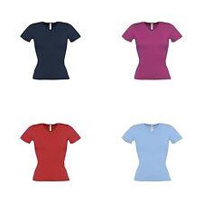 Cotton V Neck Short Sleeve Women's Other Tops