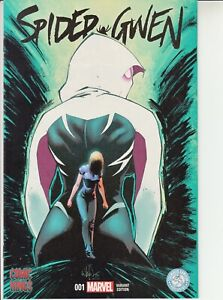 SPIDER-GWEN #1 RECALLED VARIANT NM 2015 NO WHITE OUTLINE COMIC KINGS Spiderman