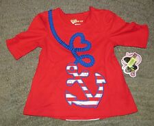 Copper Key Toddler Girls Red Short Sleeve Top - Size S (2T-3T) - NWT